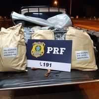 PRF apreende quase meia tonelada de adubo chinês sem nota fiscal