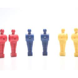 Jogo de bonecos em plastico diversas cores