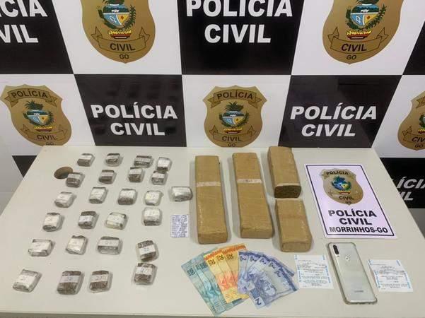 Polícia Civil prende dois por tráfico e apreende muita droga