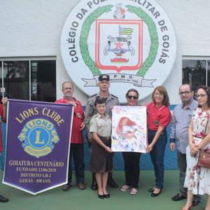 Goiatuba tem vencedora do Concurso Cartaz sobre a Paz do Lions Clubs International