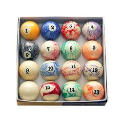 Jogo de bolas marmorizadas