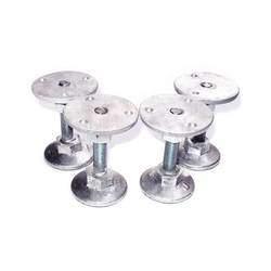 Pé nivelador para mesas de Sinuca ou Pebolim em alumínio com 4 peças
