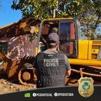 Ação conjunta recupera escavadeira avaliada em meio milhão de reais
