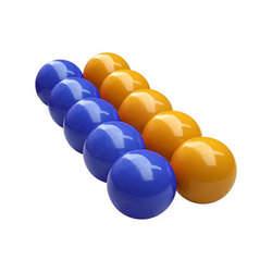 Jogo de bolas mata-mata azul