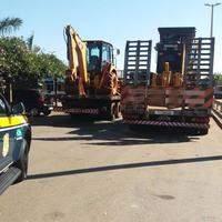 PRF recupera duas máquinas roubadas