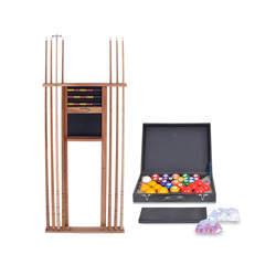 Kit de tacos e bolas Premium para jogadores de bilhar