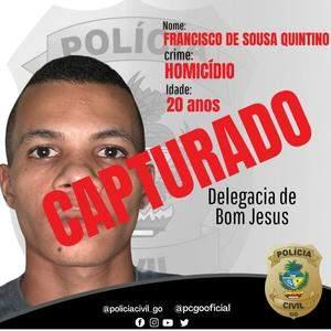 Foragido suspeito de cometer homicídio é capturado no Maranhão