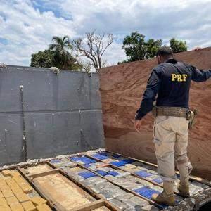 PRF apreende carregamento de cocaína avaliado em mais de R$ 15 milhões