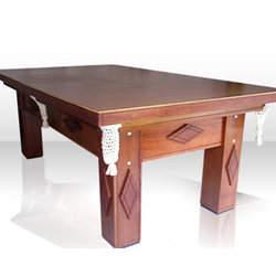 Mesa de Bilhar 4 pés 1,90x1,15 em madeira maciça com redinha branca