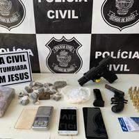 """Bom Jesus: Polícia Civil deflagra operação """"Hominis"""", prende quatro pessoas e apreende armas e drogas"""