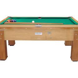 Locações de mesas de bilhar para estabelecimentos comerciais com ficheiro ou moedeiro